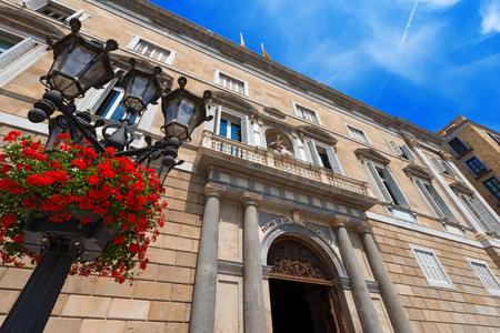 generalitat: Palau de la Generalitat de Catalunya  XV-XVII century  in Barcelona, Spain - neoclassical facade