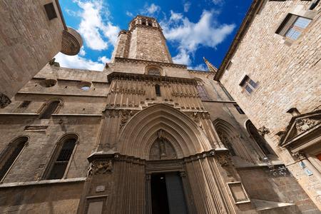 Cathedral of the Holy Cross and Saint Eulalia  Catedral de la Santa Cruz y Santa Eulalia  in Barcelona, Catalonia, Spain - 13th, 15th centuries photo