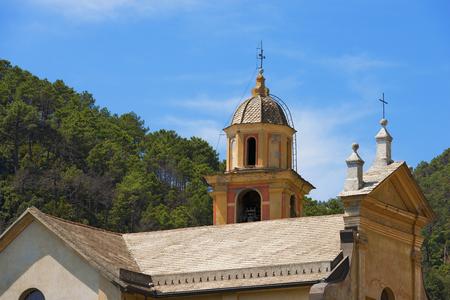 Church of Catherine of Alexandria  XVI - XVII century  in Bonassola, ancient village, La Spezia, Liguria, Italy photo