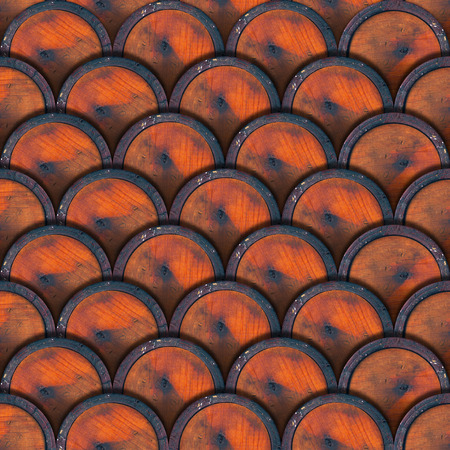 Grunge Texture or background with wooden brown and bordeaux circles photo