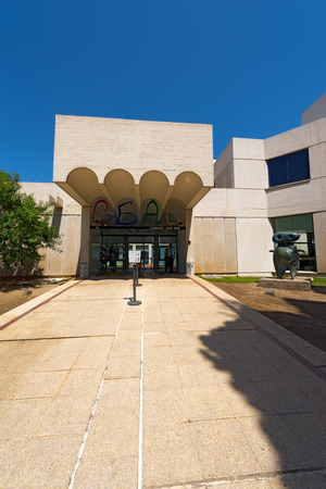 BARCELONA, SPAIN - JUNE 11, 2014: Fundacio Joan Miro - 1975, is a museum of modern art honoring Joan Miro located on the hill called Montjuic in Barcelona, Spain. Architect: Josep Lluis Sert