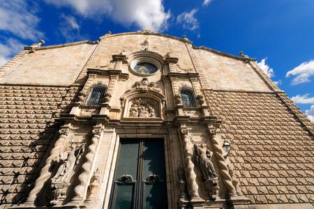 Esglesia de Betlem (Bethlehem Church) in Barcelona, Catalonia, Spain Stok Fotoğraf