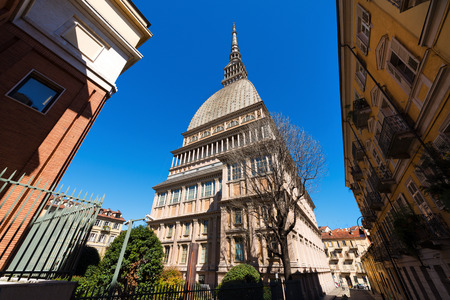 neoclassic: Mole Antonelliana 18631889 in Turin Torino Piemonte Italy Symbol of the city. Architect Alessandro Antonelli.