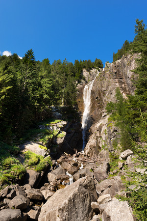 regina: Waterfall in summer Regina del Lago Queen of the lake. Daone valley Trentino Alto Adige, Italy