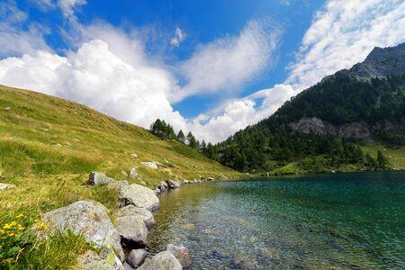 campo: Lago di Campo Campo lake 1944 m. Small beautiful alpine lake in the National Park of Adamello Brenta, Trentino Alto Adige, Italy