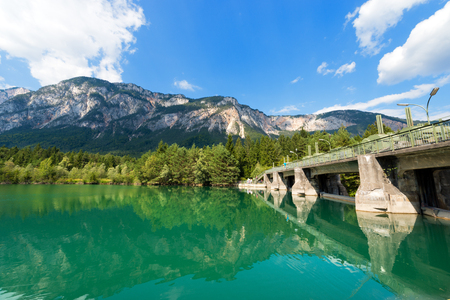 hydroelectricity: Ancient dam on the Gail river in Arnoldstein - Carinthia Austria