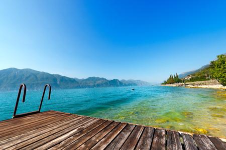 Lago di Garda Garda Lake, the largest Italian lake of glacial origin. Veneto, lombardy and Trentino Alto Adige