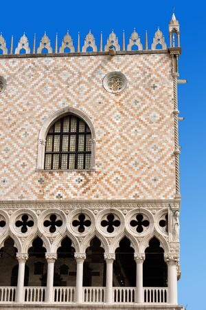 doge: Detail of the Doge Palace Palazzo Ducale in St. Mark Square, Venice UNESCO world heritage site, Veneto, Italy