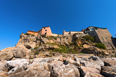 golfo: The ancient small village of Tellaro near Lerici, La Spezia in the Golfo dei Poeti Gulf of poets or Gulf of La Spezia Italy