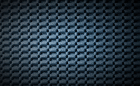 sound proof: Blue and black abstract background in foam rubber
