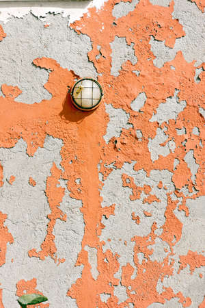 salinity: Detail of a wall exposed to the sea weather - Liguria Italy Stock Photo