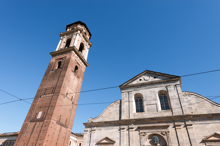 john the baptist: Detail of the Turin Cathedral of St. John Baptist (Duomo di Torino di San Giovanni Battista 1505). Piemonte, Italy. Stock Photo