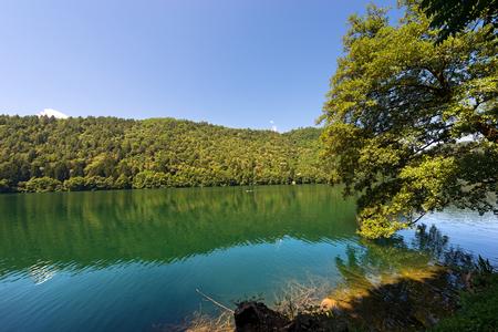 Lago di Levico (Levico Lake) in Trentino Alto Adige, Italy, Europe