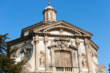 pilasters: Detail of the facade of the Church of San Giuseppe (St. Joseph 1607-1630) in Lombard Baroque style. Milano, Lombardia, Italy