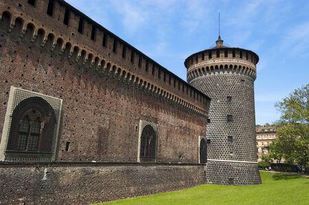 carmine: Torrione del Carmine (Tower of Carmine), Sforza Castle XV century (Castello Sforzesco). Milan, Lombardy, Italy