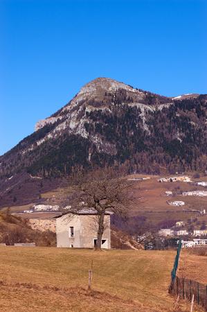 high plateau: Peak of the Corno dAquilio in the high Plateau of Lessinia. Verona, Veneto, Italy