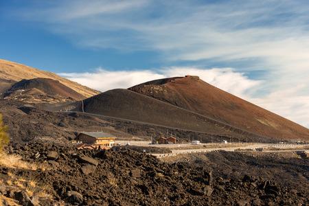 Silvestri craters (eruption of the year 1892), mount Etna Volcano in Sicily, Catania, Italy (Sicilia, Italia) Stock Photo