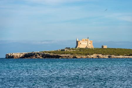 The Capo Passero Island (Cape Passero) the extreme south-east of the island of Sicily. Portopalo, Syracuse, Italy, Europe