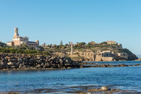 Coastline of Portopalo of Capo Passero, the extreme south-east of the island of Sicily. Syracuse, Italy, Europe