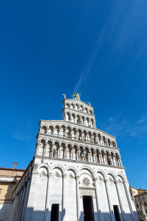 Church of San Michele in Foro in Pisan-romanesque style in the ancient town of Lucca, Toscana (Tuscany), Italy, Europe