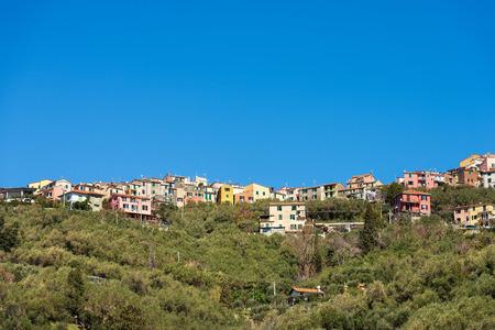 La Serra - Small village on the hills in the municipality of Lerici overlooking the gulf of La Spezia, Liguria, Italy, Europe Stock Photo