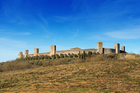The fortified town of Monteriggioni. Ancient medieval village near Siena - Toscana (Tuscany) - Italy - Europe