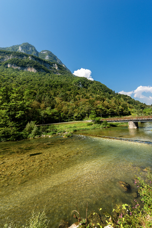 The River Brenta in Valsugana (Sugana Valley), Trentino and Veneto, Italy, Europe