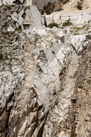 Quarry of white Carrara Marble in the Apuan Alps (Alpi Apuane). Tuscany, (Toscana), Italy, Europe