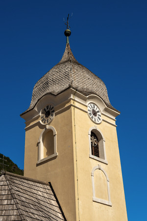 Church of Saint Anne (1730) in Prussian style. Cave del Predil (Predil Mine), Friuli Venezia Giulia, Tarvisio, Italy, Europe Stock Photo