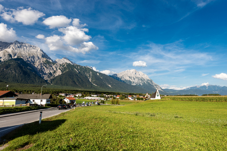 The small village of Obermieming in Tyrol state, Austria.