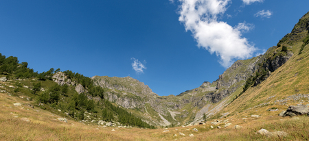 Alpine peaks in the National Park of Adamello Brenta. Trentino Alto Adige, Italy, Europe Stock Photo
