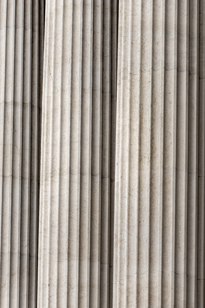 Detail of columns in a row. Vittoriano or Altare della Patria (Altar of the Fatherland).