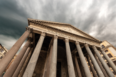 The Pantheon of Rome in Italy Europe. Ancient Roman temple dedicated to all the gods of the past, today a Christian basilica. Reklamní fotografie