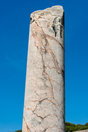 Roman marble broken column on a clear blue sky in Ostia Antica, colony founded in the 7th century BC. Reklamní fotografie