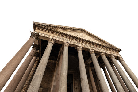 Rome Pantheon isolated on white