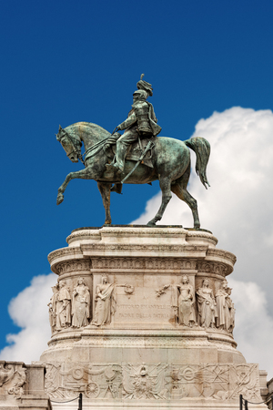 Equestrian monument of Vittorio Emanuele II (1820-1878), first king of Italy