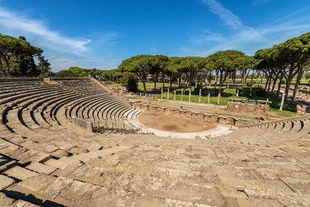 Ostia Antica - The Roman Theatre. Stockfoto