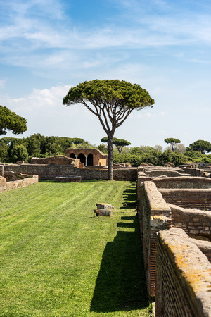 Ancient Roman buildings of Ostia Antica, colony founded in the 7th century B.C.