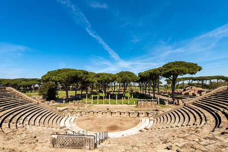 Roman Theatre of Ostia Antica, colony founded in the 7th century BC near Rome