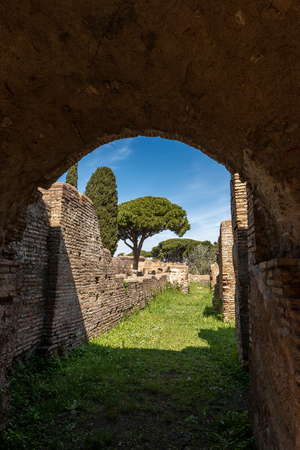 Ancient Roman buildings in Ostia Antica, Roman colony founded in the 7th century B.C.