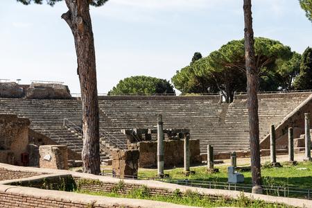Ostia Antica - The Roman Theatre. Rome, Italy Stockfoto