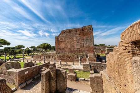 Capitolium, the largest Roman temple of Ostia Antica, dedicated to Jupiter, Juno and Minerva, colony founded in the 7th century B.C Reklamní fotografie