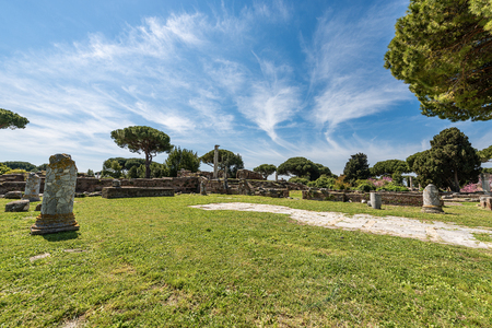 Ostia Antica, ancient Roman colony founded in the 7th century BC.