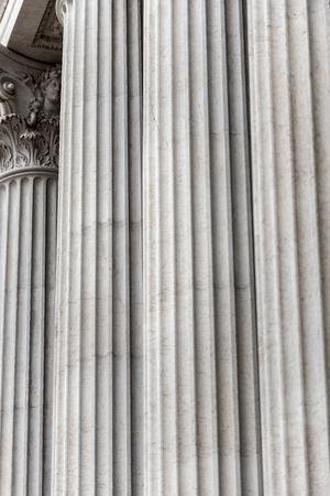 Detail of columns in a row. Vittoriano or Altare della Patria (Altar of the Fatherland).