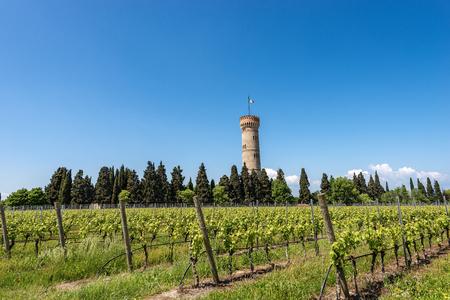 Monumental Tower of San Martino della Battaglia near the Lake Garda in neo-gothic style, 1878.