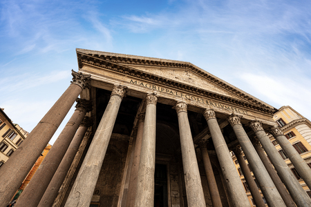 Pantheon of Rome, Ancient Roman temple dedicated to all the gods of the past, today a Christian basilica.