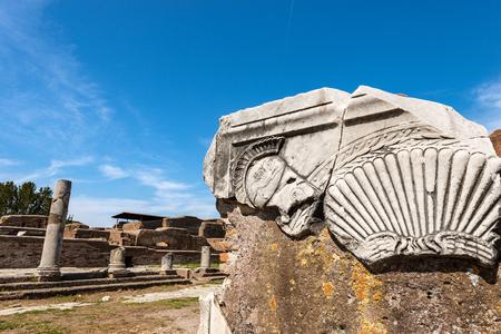 Ancient Roman altar of the Capitolium, temple dedicated to Jupiter, Juno and Minerva.