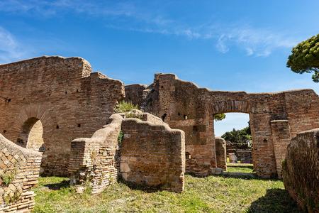 Ancient Roman buildings. Stockfoto