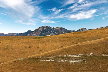 Italian Alps with the Carega Mountain, called the small Dolomites and the Lessinia Plateau. Regional Natural Park, Verona province, Veneto, Italy, Europe