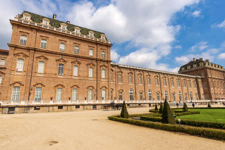 TURIN, ITALY - APR 4, 2015: Reggia di Venaria Reale 1658-1679, ancient palace, residences of the Royal House of Savoy. UNESCO world heritage site in Turin, Piedmont, Italy